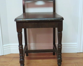 Vanity chairs, 1930's chair, telephone chair, vintage mahogany, small chairs, makeup chairs, seating, old chairs,