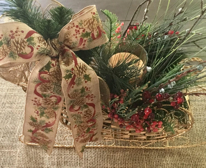 Diy Kit Create Your Own Christmas Sleigh Centerpiece