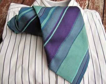 Vintage Necktie, Neckties Mens Accessories Mens Necktie, FREE SHIPPING, Mens tie, Diagonal  necktie, Ties, Vintage Mens neckties, Retro tie