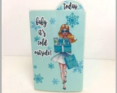 TIFFANY'S GIRL Blonde (TN) Dashboard with Bookmark Flap | .3 Mil | DB002