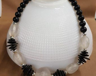 black and frost bead necklace
