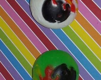 Vintage 1980s Bootleg MadBalls Vending Machine Toy eyeball (Choose 1)