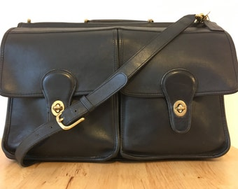 Vintage Coach Black Kensington Briefcase/Attaché