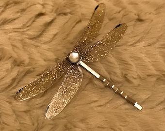 Dainty dragonfly fairy hair clip