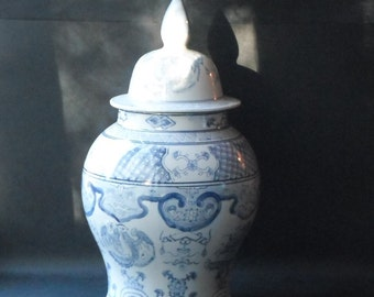 A Vintage Large Chinese Ginger Jar 18""