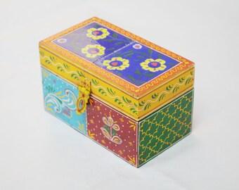 Jewellery Box, wooden handcrafted jewellry box, trinket box, storage box, Indian jewellery box