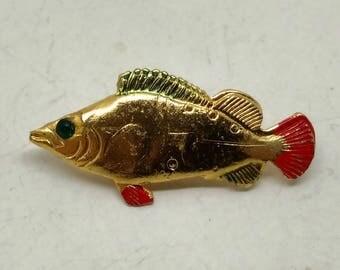 Vintage Fish Brooch- signed Hong Kong