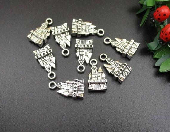Tibetan Silver Key Charms Qty 10 Pendants 21mm IOM