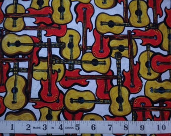 1 YD - That Funky Jazz (Guitars) by Exclusively Quilters
