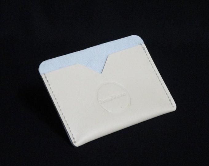 Pocket Wallet - Cream - Kangaroo leather with RFID credit card blocking - Handmade - James Watson