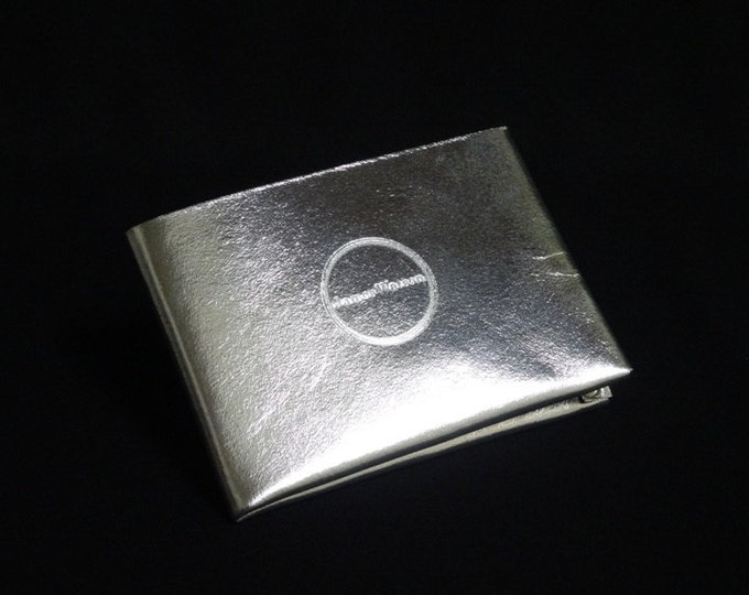 6-Pocket Wallet - Silver Chrome - Kangaroo leather with RFID credit card blocking - Handmade - James Watson