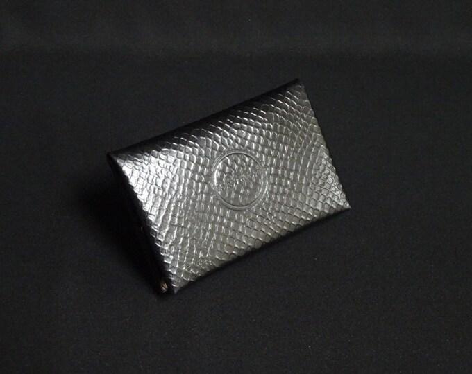 Bantam6 Wallet - Black Python - Kangaroo leather with RFID credit card blocking - Handmade - James Watson