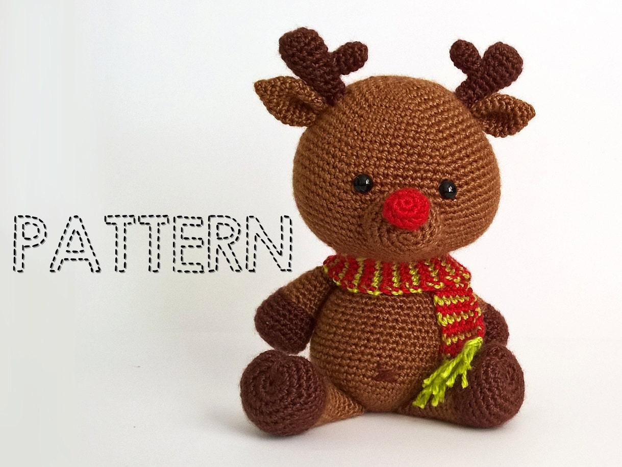 Crochet christmas deer patterns rudolph toy reindeer zoom bankloansurffo Choice Image