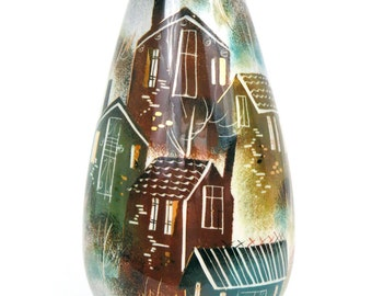 Sascha Brastoff Rooftops Vase
