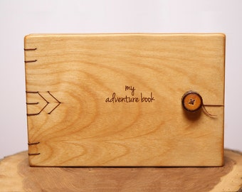My Adventure Book Wood Notebook