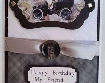 Handmade Funny Masculine Birthday card