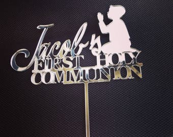 First Holy Communion Cake Topper, First Holy Communion