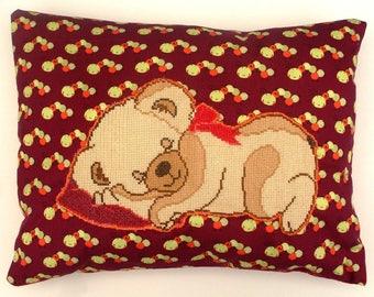 The NAP appliqué Pooh cushion handmade