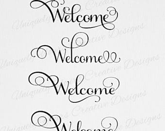 Welcome SVG Cutting File, Instant Download File, Cricut Cutting File, Silhouette Cutting File, Scrapbook Decal Cutting File