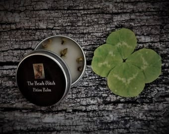 FOUR LEAF CLOVER Potion Balm, Spell Balm, Anointing Balm, Ritual Oil, Spell Oil, Wicca, Witchcraft, Pagan, Occult ~ The Beach Witch ~ 1/2 oz