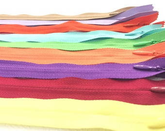 Invisible Zippers 11 Inches Assorted Colors