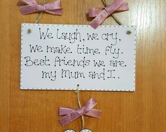 Mother's day cute quote plaque