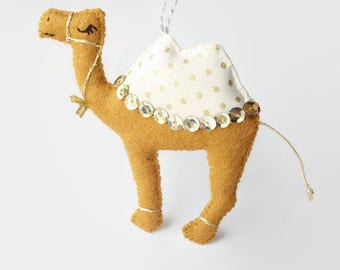 Felt Camel Decoration / Christmas Decoration / Party Favour