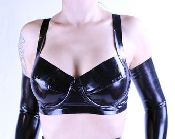 Latex underwired bra