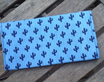 door blue checkbook small black cactus
