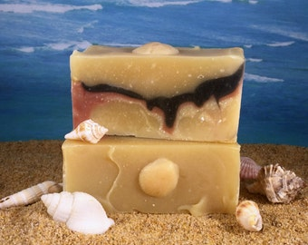 Mango Butter Soap / All Natural Soap with Coconut Milk, Handmade Essential Oils of Orange Ylang Ylang