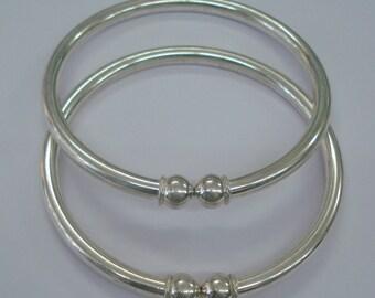 ethnic tribal silver anklet feet bracelet bangle kada pair armlet handmade