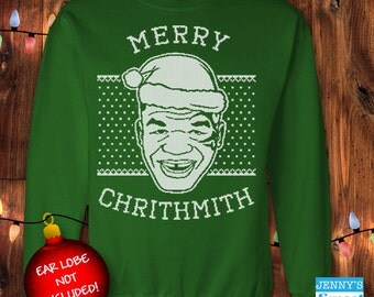 Mike Tyson Ugly Christmas Sweater - Merry Chrithmith