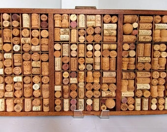 Antique printer's tray custom wine cork memo board wine cork decor office or kitchen memo board wine cork art message board wine