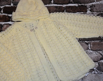 Yellow Knit Baby Layette Set