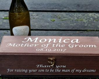 Wine Box, Personalized Wine Box, Wedding Wine Box, Ceremony Wine Box, Anniversary Wine Box, Custom Engraved Wine Box
