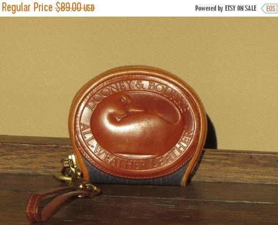 Football Days Sale Mini Dooney & Bourke Duck Wristlet Coin Purse With Brass Hardware and Boho Duck VGC
