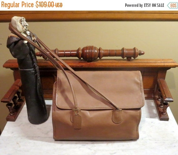 Football Days Sale Coach Tote In Brown Leather Style No 4170- VGC