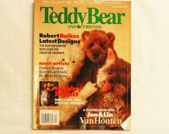 Teddy Bear and Friends Magazine December 1996 Robert Raikes Eunice Beaton Karen Garfinkle Bo Bear Jon Lin VanHouten Holiday Project Stocking