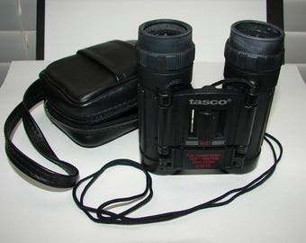 Tasco Binoculars 8x21 Travel Binoculars, Zippered Case, Binoculars, Bird Watching, Hunting, Hiking