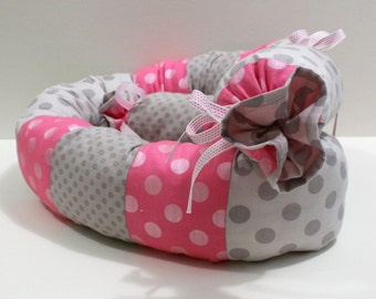 Newborn Baby Bumper, for head protection of babies, Pink Baby Snake Pillow, newborn bumper gift, baby girls accent snake.