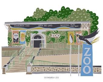Edinburgh Zoo Print