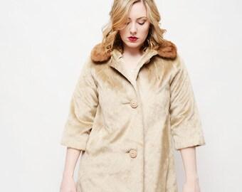 Vintage 60s Coat - Creme, 50s/60s,