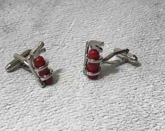 Fire Extinguisher cufflinks, Fireman cufflinks, Firefighter cufflinks