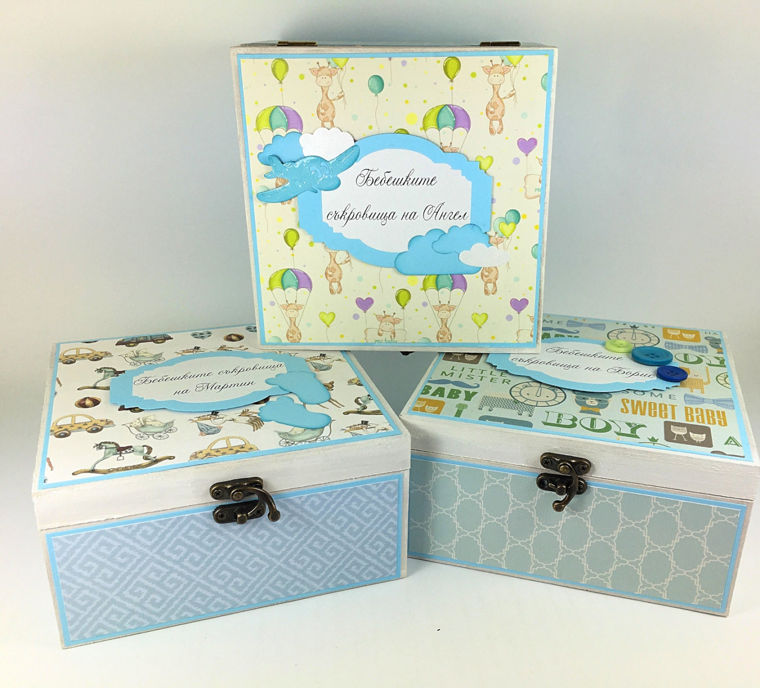 Baby Gift Keepsake Box : Wooden baby keepsake box treasures shower gift