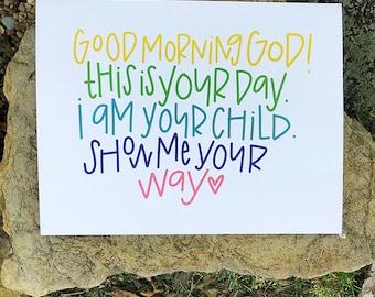 Good Morning God {print}