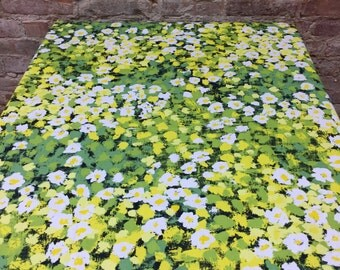 Green Yellow White Tablecloth, Colorful Tablecloth With Flowers, Floral  Pattern, Spring Tablecloth