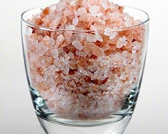 Himalayan Pink Salt Medium Grain Coarse 4oz, 8oz Culinary Salt / Natural salt / BBQ Rubs
