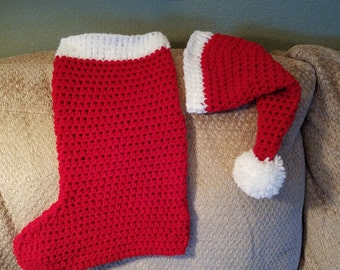 Newborn Christmas Stocking Cocoon and Stocking Hat