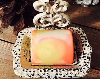 Georgia Sunrise, Peach, Raspberry, Vanilla, Vegan Soap, Southern Gift, Gifts for Her, Gift for Mom, Girlfriend Gift