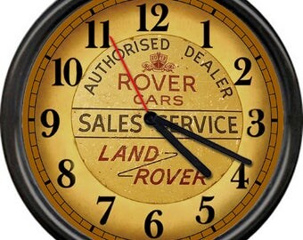 Land Rover Retro Vintage Authorised Dealer Cars Service Sales Garage Repair Mechanic Sign Wall Clock